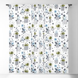 Flying plants patterns Blackout Curtain