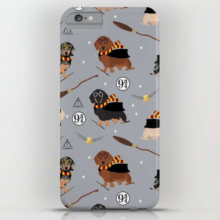 dachshund witch wizard magic wiener dog gifts iphone case
