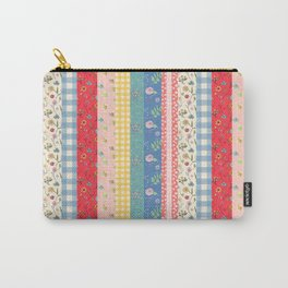 Happy patchwork stripe Carry-All Pouch