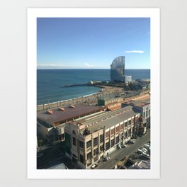 Low season in Barcelona Art Print