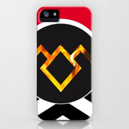 Owl Cave Symbol (Black Lodge Background) iPhone Case