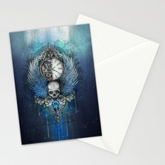 Wings of time - blue Stationery Cards