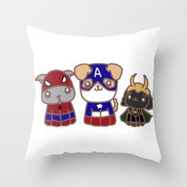 Super Puppies Throw Pillow