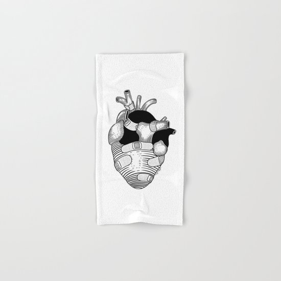 The strongest hearts have the most scars Hand & Bath Towel