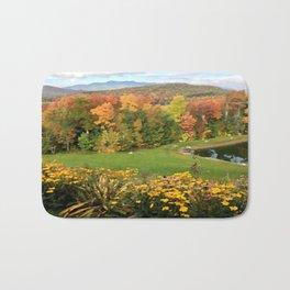 Vermont Foliage Watercolor Bath Mat