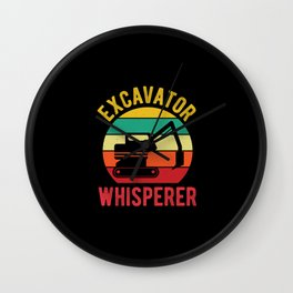 Funny Excavator Wall Clock