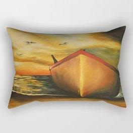 offset the coast Rectangular Pillow