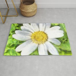 Radiant Daisy Watercolor Rug