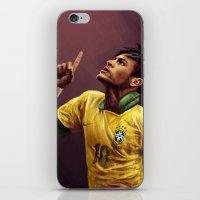 neymar iPhone & iPod Skins featuring Neymar Jr. by apfelgriebs