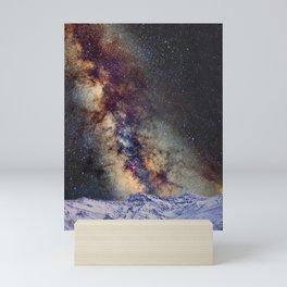The star Antares, Scorpius and Sagitariuss over the hight mountains. The milky way. Mini Art Print