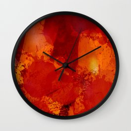 Profondo Rosso Abstract Art Expressionist Wall Clock