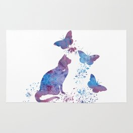 Colorful Cat Art Rug