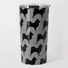 Long Haired Chihuahua Silhouette Travel Mug