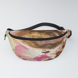 Chocolate with Pink and Yellow Marble Fanny Pack