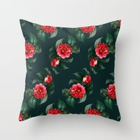 floral pattern Throw Pillows featuring Floral Pattern by Heart of Hearts Designs
