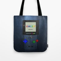 gameboy Tote Bags featuring GAMEBOY COLOR by Smart Friend