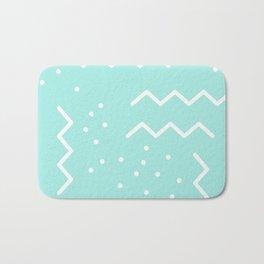 Abstract Memphis Minimalistic Geometric Shapes Bath Mat