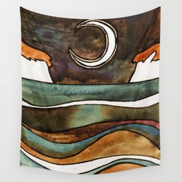 The Moon II Wall Tapestry