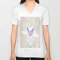 iris V-neck T-shirts featuring Iris by Judith Lee Folde Photography & Art