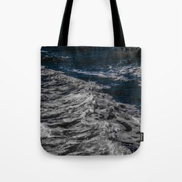 Snow Day - Sea foam on water in San Francisco Tote Bag