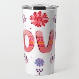 Flora Love Boho Style Travel Mug
