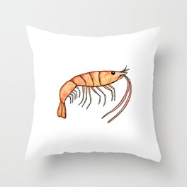 Prawn: Fish of Portugal Throw Pillow