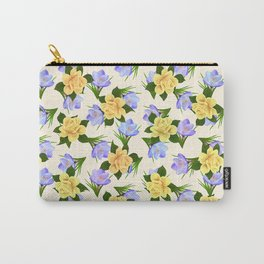 Crocus and Rose Carry-All Pouch