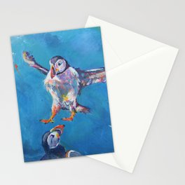 Landing puffin Stationery Cards