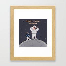 BTS: moonchild, we have touchdown! Framed Art Print