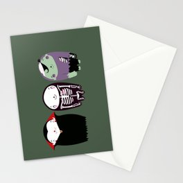 happy monster friends Stationery Cards