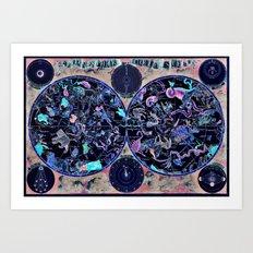 Vintage Celestial Map Art Print