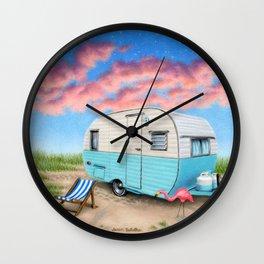 The Happy Camper Wall Clock