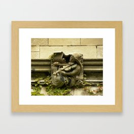 Musician Gargoyle, University of Chicago v.3 Framed Art Print