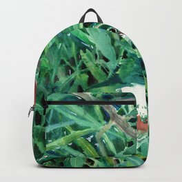 Green Kingfisher in Nature, green design Backpack