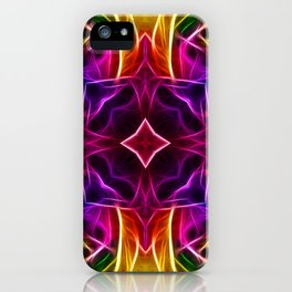 Rainbow Rose Kaleidoscope Mandala iPhone Case