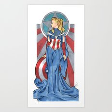 Lady America Art Print
