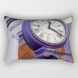 Old Clock at Train Station Rectangular Pillow