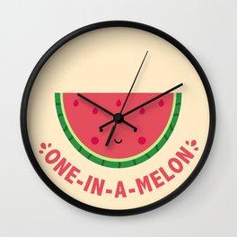 One in a Melon (Watermelon) Wall Clock