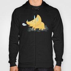 Yellow Triceratops Dinosaur Hoody