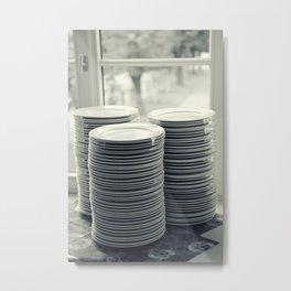 Plates Metal Print