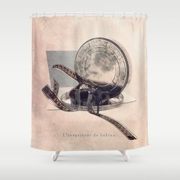 The film reel auditor Shower Curtain
