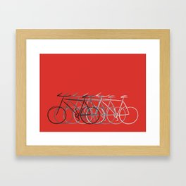 Just bike Framed Art Print