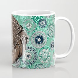 pangolin mandala peppermint Coffee Mug