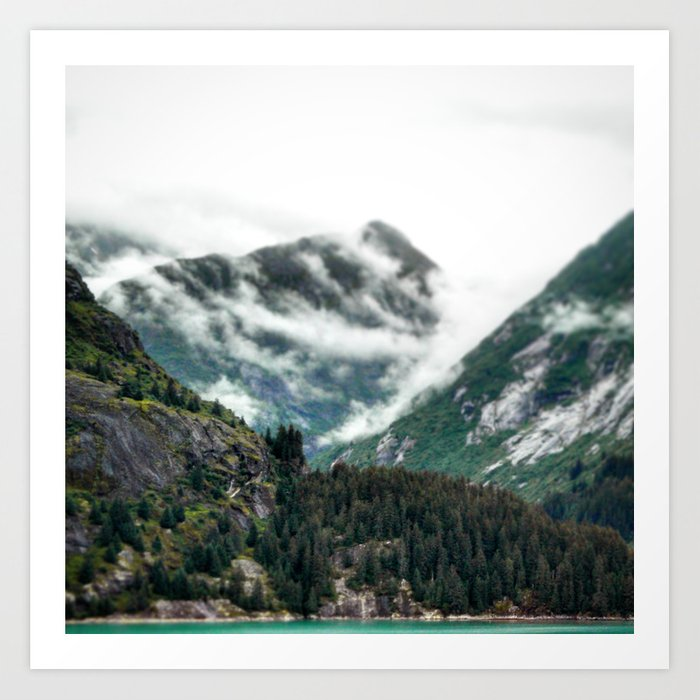 Foggy Mountain Tops Art Print