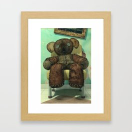 The Old Forgotten Teddy Bear - Still Life Artwork Framed Art Print