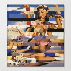 Glitch Pin-Up Redux: Sophia Canvas Print