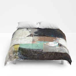 Another Vice Mixed Media Abstract Collage Art Comforters