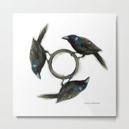 TriGrackle Metal Print