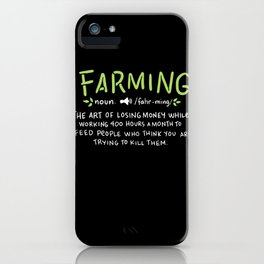 Farming Definition iPhone Case
