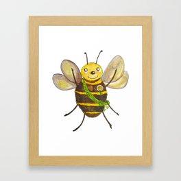 Happy Bee Framed Art Print